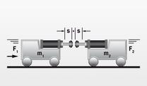 滑座与带 2 个减震器的滑座相对